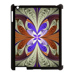 Fractal Splits Silver Gold Apple Ipad 3/4 Case (black) by Celenk