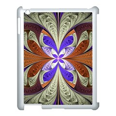 Fractal Splits Silver Gold Apple Ipad 3/4 Case (white) by Celenk
