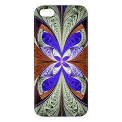 Fractal Splits Silver Gold Apple Iphone 5 Premium Hardshell Case by Celenk