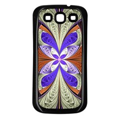 Fractal Splits Silver Gold Samsung Galaxy S3 Back Case (black) by Celenk