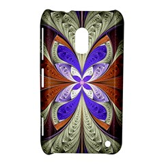 Fractal Splits Silver Gold Nokia Lumia 620 by Celenk
