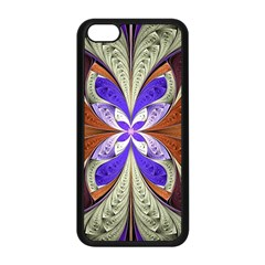 Fractal Splits Silver Gold Apple Iphone 5c Seamless Case (black) by Celenk
