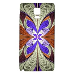 Fractal Splits Silver Gold Galaxy Note 4 Back Case by Celenk