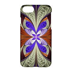 Fractal Splits Silver Gold Apple Iphone 7 Hardshell Case by Celenk