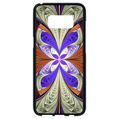 Fractal Splits Silver Gold Samsung Galaxy S8 Black Seamless Case by Celenk