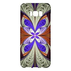 Fractal Splits Silver Gold Samsung Galaxy S8 Plus Hardshell Case  by Celenk
