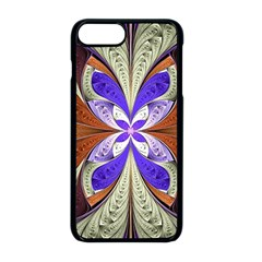 Fractal Splits Silver Gold Apple Iphone 8 Plus Seamless Case (black) by Celenk