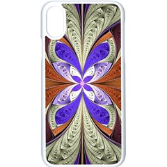 Fractal Splits Silver Gold Apple Iphone X Seamless Case (white) by Celenk