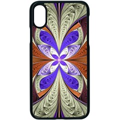 Fractal Splits Silver Gold Apple Iphone X Seamless Case (black) by Celenk
