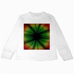 Sunflower Digital Flower Black Hole Kids Long Sleeve T Shirts
