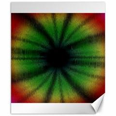 Sunflower Digital Flower Black Hole Canvas 8  X 10  by Celenk
