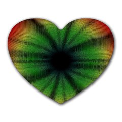 Sunflower Digital Flower Black Hole Heart Mousepads by Celenk