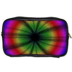 Sunflower Digital Flower Black Hole Toiletries Bags 2 Side by Celenk