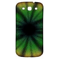 Sunflower Digital Flower Black Hole Samsung Galaxy S3 S Iii Classic Hardshell Back Case by Celenk