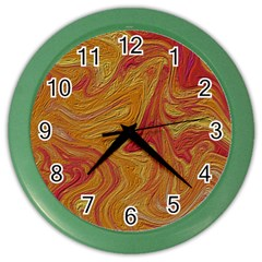 Texture Pattern Abstract Art Color Wall Clocks by Celenk