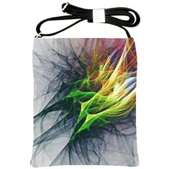 Fractal Art Paint Pattern Texture Shoulder Sling Bags by Celenk