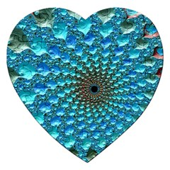 Fractal Art Design Pattern Jigsaw Puzzle (heart) by Celenk