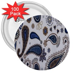 Pattern Embroidery Fabric Sew 3  Buttons (100 Pack)  by Celenk