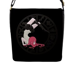Scorpio Girl Flap Messenger Bag (l)  by Valentinaart