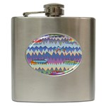 Zig zag boats Hip Flask (6 oz)
