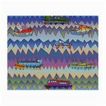 Zig zag boats Small Glasses Cloth (2-Side)
