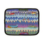 Zig zag boats Netbook Case (Small)