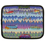 Zig zag boats Netbook Case (Large)