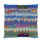 Zig zag boats Standard Cushion Case (Two Sides)
