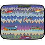 Zig zag boats Double Sided Fleece Blanket (Mini)