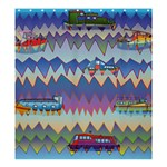 Zig zag boats Shower Curtain 66  x 72  (Large)