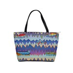 Zig zag boats Shoulder Handbags
