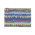 Zig zag boats Cosmetic Bag (Large)