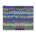 Zig zag boats Cosmetic Bag (XL)
