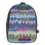 Zig zag boats School Bag (Large)