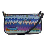 Zig zag boats Shoulder Clutch Bags