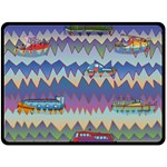 Zig zag boats Fleece Blanket (Large)