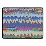 Zig zag boats Fleece Blanket (Small)
