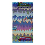Zig zag boats Shower Curtain 36  x 72  (Stall)