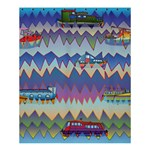 Zig zag boats Shower Curtain 60  x 72  (Medium)