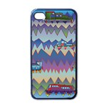 Zig zag boats Apple iPhone 4 Case (Black)