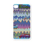 Zig zag boats Apple iPhone 4 Case (White)