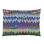 Zig zag boats Pillow Case (Two Sides)