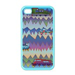 Zig zag boats Apple iPhone 4 Case (Color)