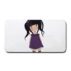 Dolly Girl In Purple Medium Bar Mats by Valentinaart