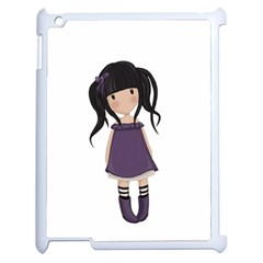 Dolly Girl In Purple Apple Ipad 2 Case (white) by Valentinaart