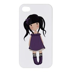 Dolly Girl In Purple Apple Iphone 4/4s Hardshell Case by Valentinaart
