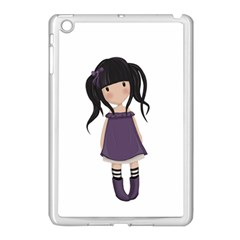 Dolly Girl In Purple Apple Ipad Mini Case (white) by Valentinaart