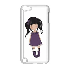 Dolly Girl In Purple Apple Ipod Touch 5 Case (white) by Valentinaart