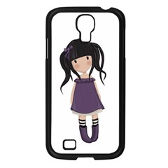 Dolly Girl In Purple Samsung Galaxy S4 I9500/ I9505 Case (black) by Valentinaart