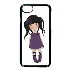 Dolly Girl In Purple Apple Iphone 8 Seamless Case (black) by Valentinaart